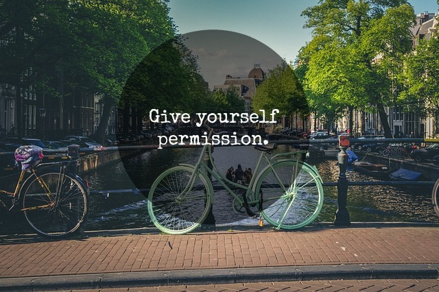 giving yourself permission